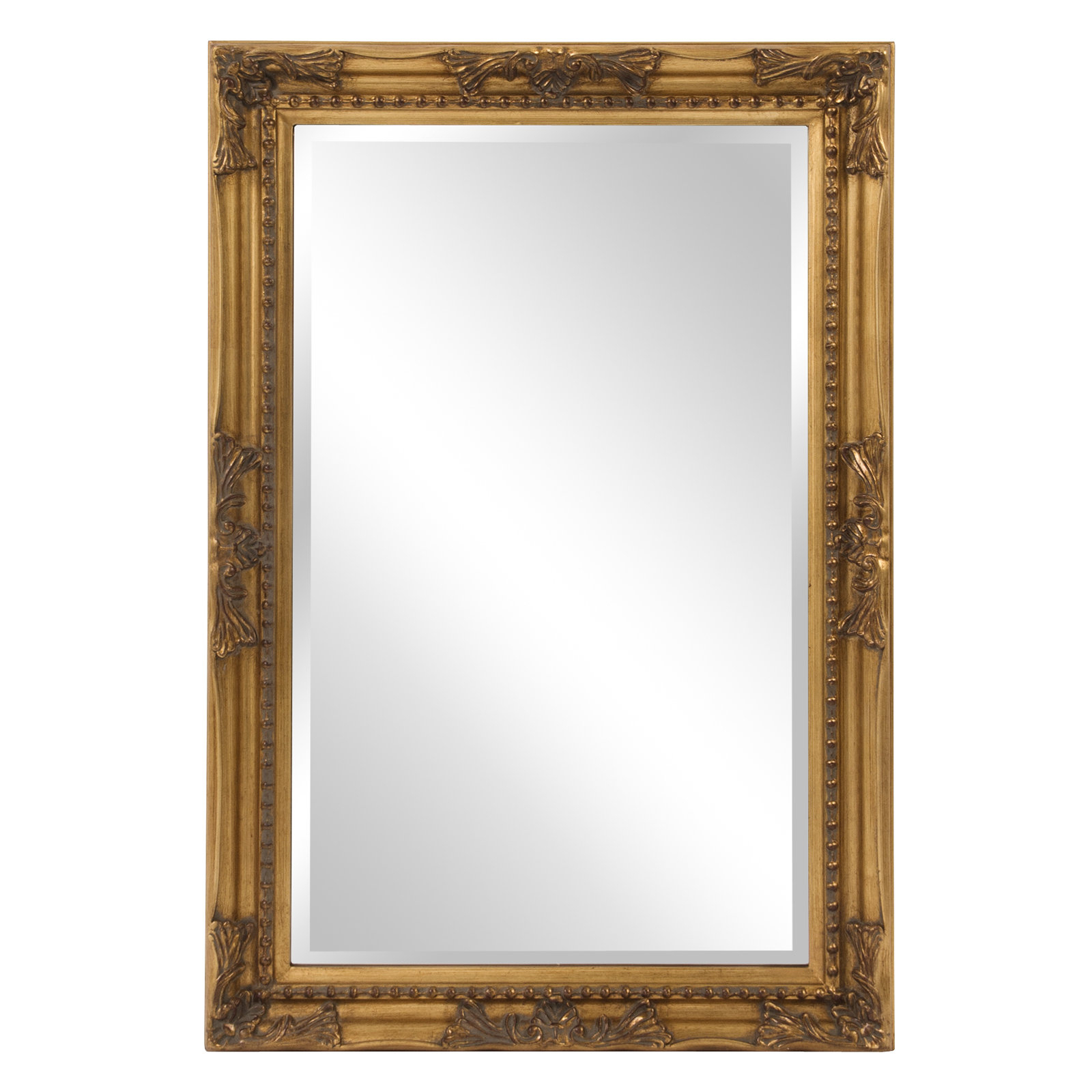 Traditional Beveled Accent Mirror With Regard To Lajoie Rustic Accent Mirrors (View 10 of 20)
