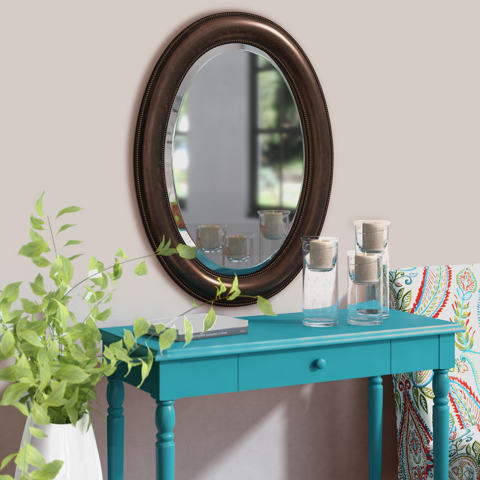 Traditional Beveled Distressed Accent Mirror For Alie Traditional Beveled Distressed Accent Mirrors (Image 19 of 20)