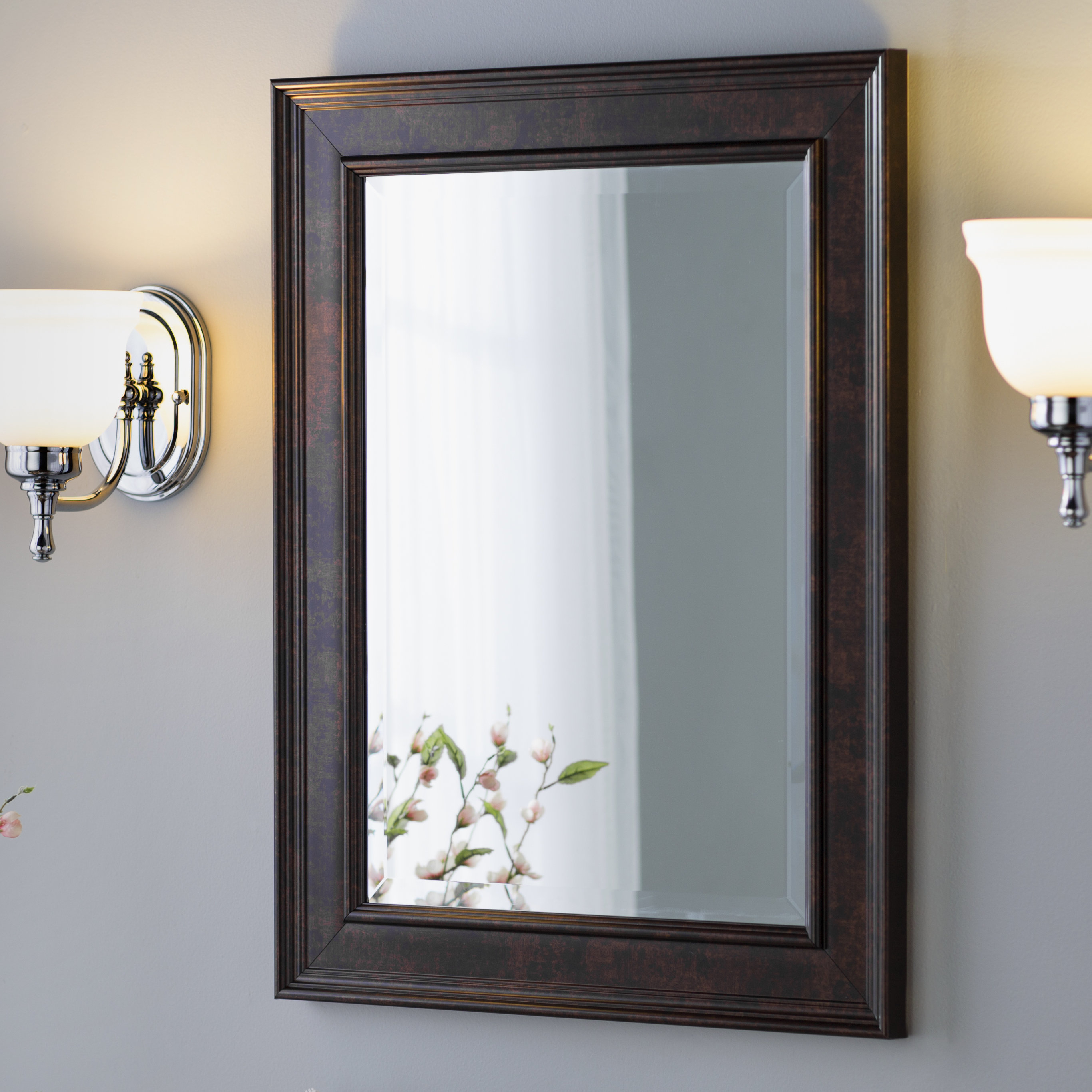 Traditional Beveled Wall Mirror For Rectangle Plastic Beveled Wall Mirrors (View 10 of 20)