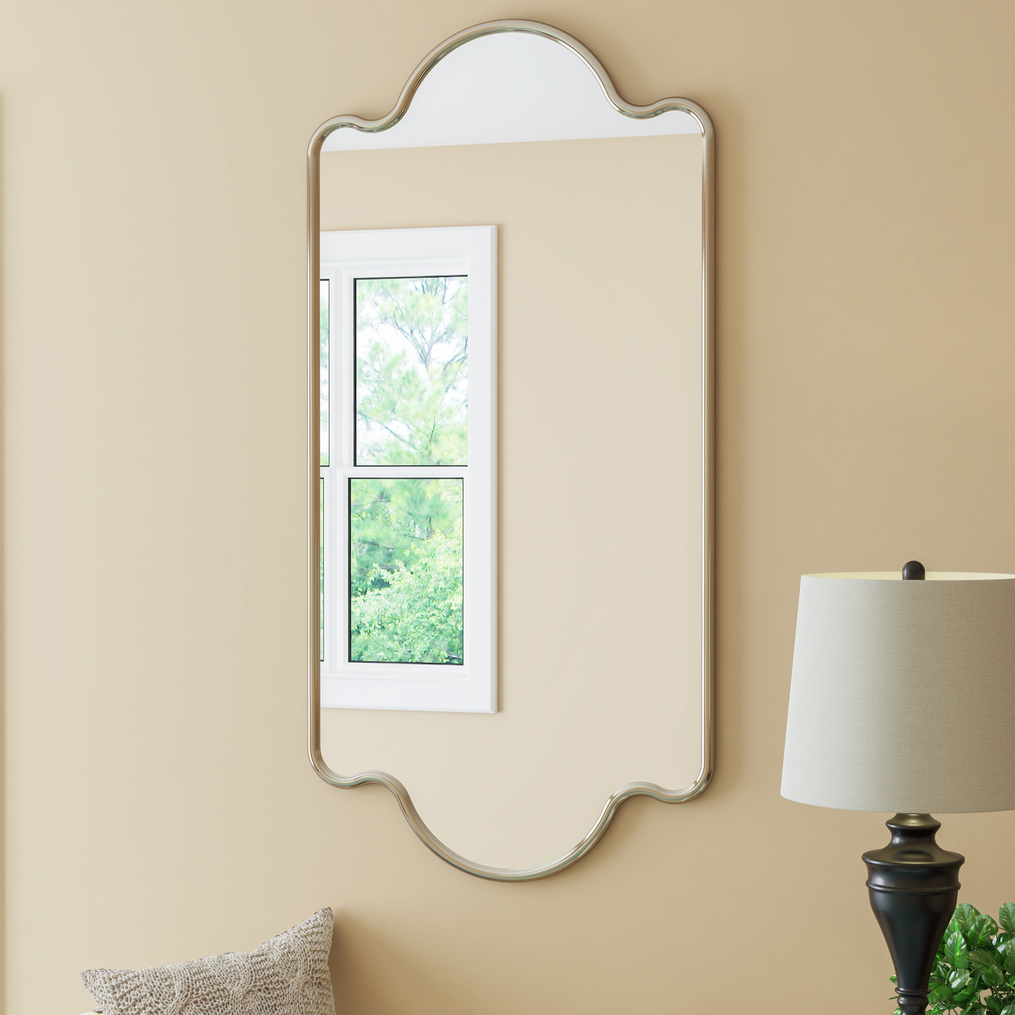 Traditional Beveled Wall Mirror Throughout Traditional Beveled Wall Mirrors (View 19 of 20)