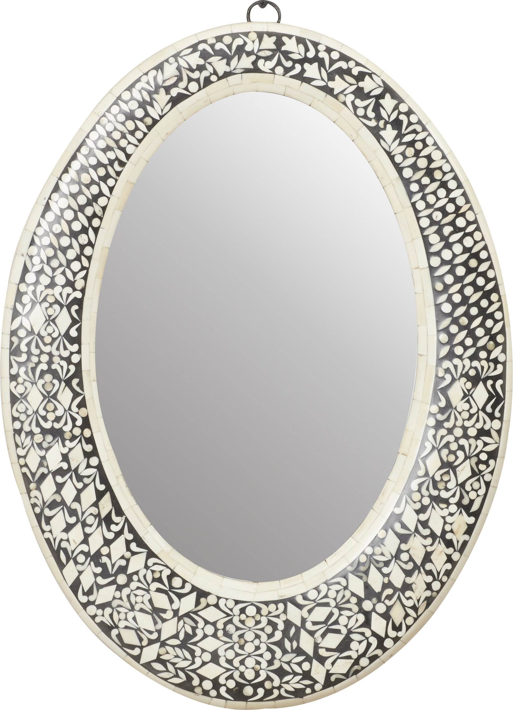 Traditional Oval Wall Mirror Throughout Sajish Oval Crystal Wall Mirrors (View 6 of 20)