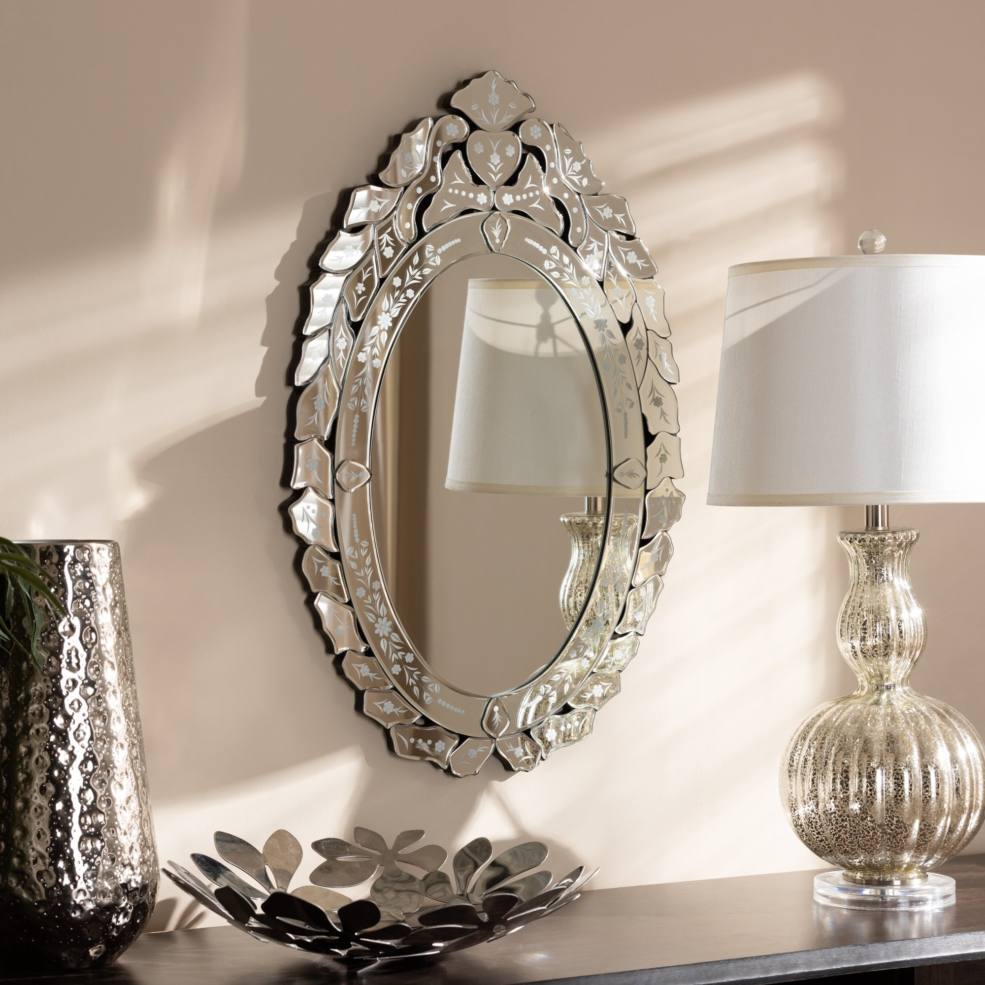 Traditional Silver Venetian Style Wall Mirrorbaxton Studio – Antique Silver Throughout Bracelet Traditional Accent Mirrors (View 11 of 20)