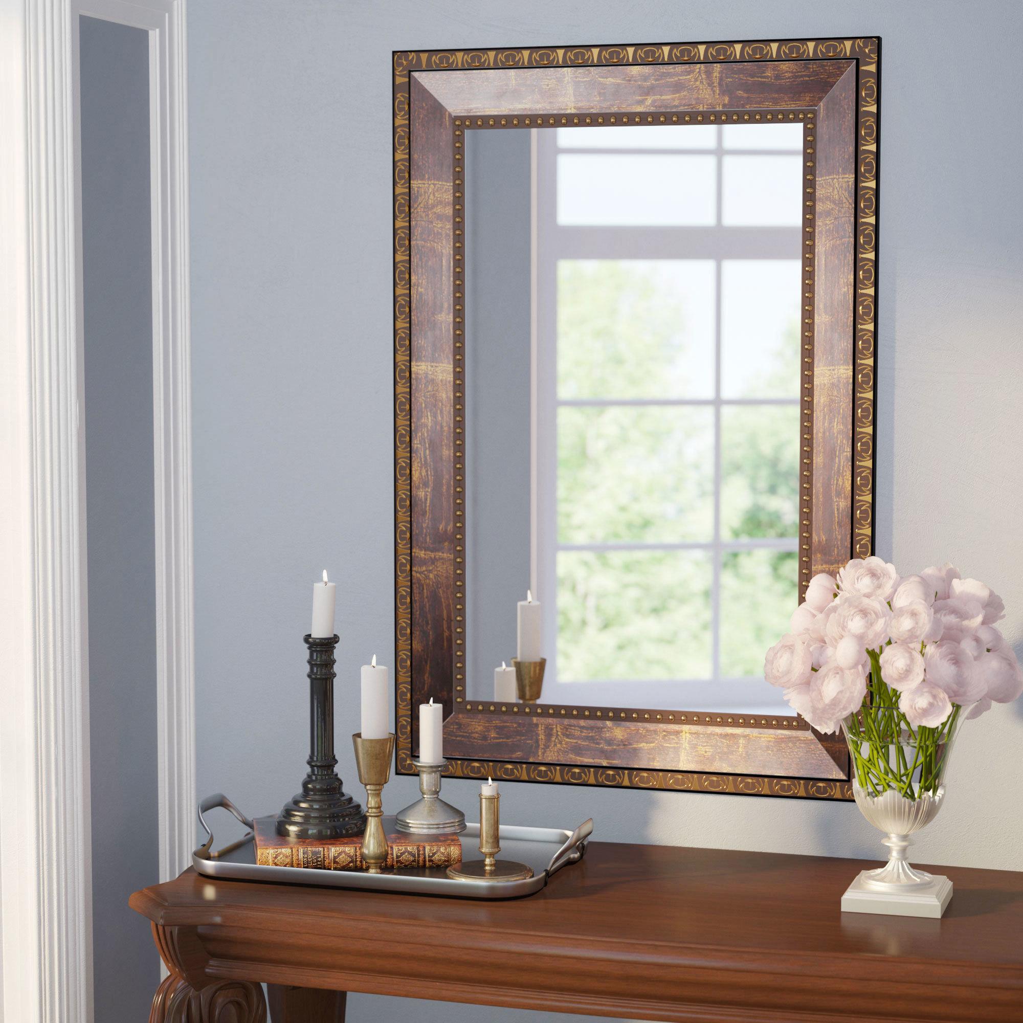 Traditional Square Copper Bronze Accent Mirror Intended For Traditional Square Glass Wall Mirrors (View 10 of 20)