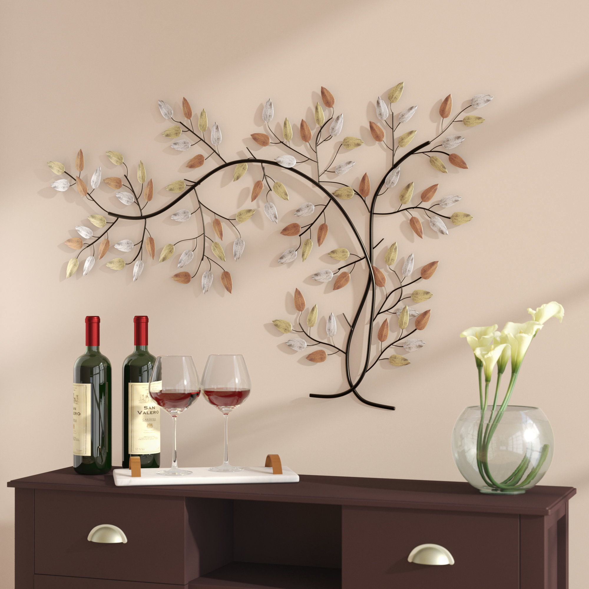 Tree Branch Wall Mirror | Wayfair Regarding Cromartie Tree Branch Wall Mirrors (Image 13 of 20)