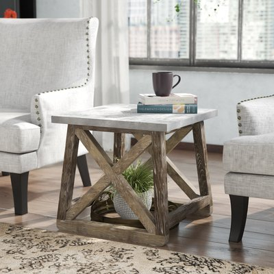 Trent Austin Design Wasco End Table   Products In 2019 With The Gray Barn Rosings Park Grey Wash Cocktail Tables (View 18 of 25)