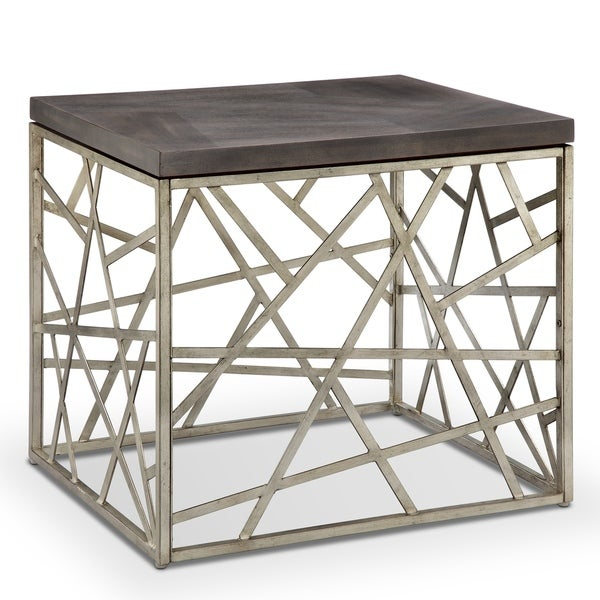 Featured Image of Tribeca Contemporary Distressed Silver And Smoke Grey Coffee Tables