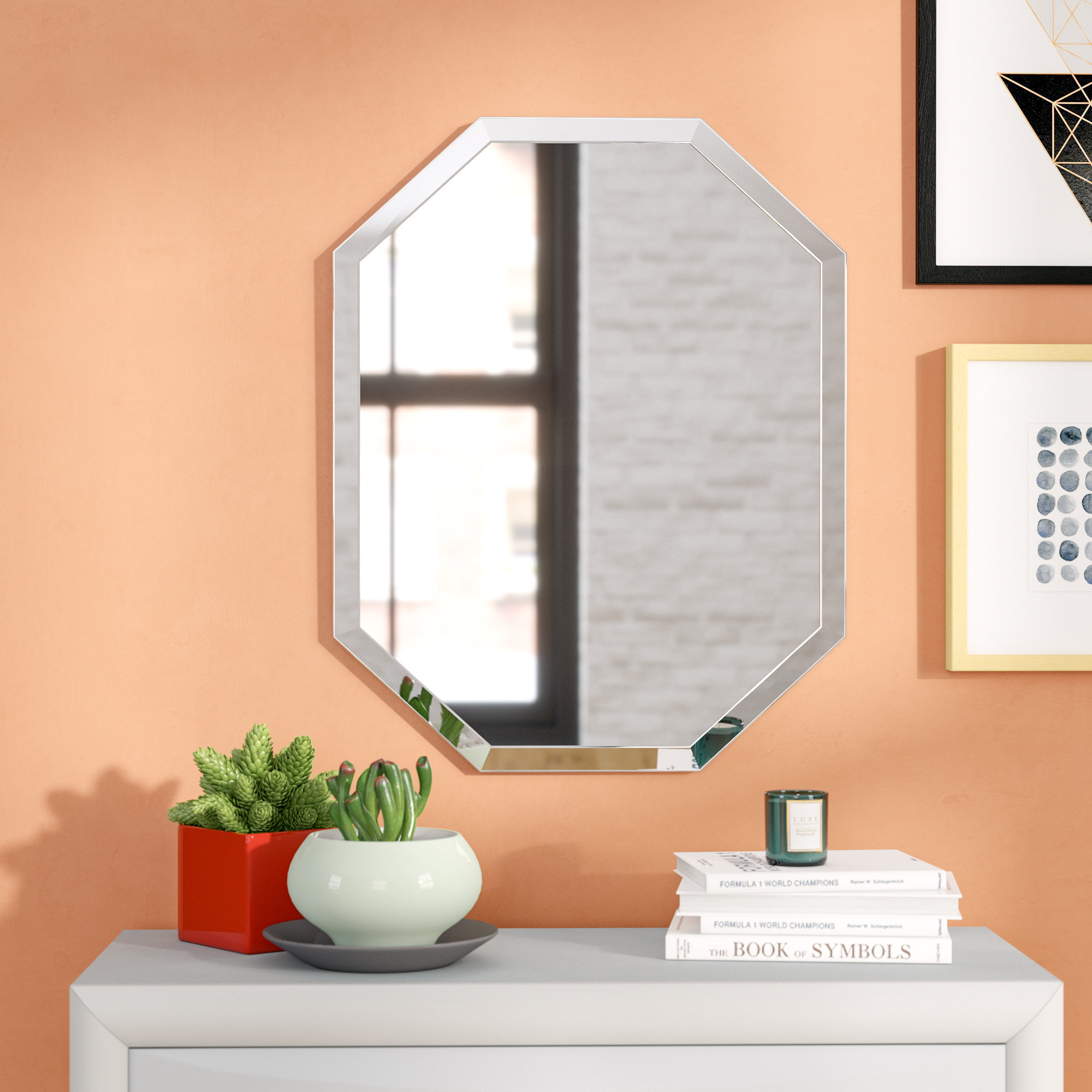 Trisler Accent Wall Mirror | Wayfair In Reba Accent Wall Mirrors (View 18 of 20)