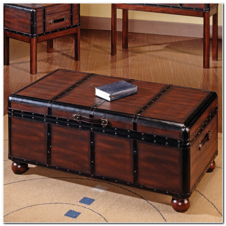 Trunk Style Coffee Table Set | Furniture Modern And Unique With Regard To Dravens Industrial Cherry Coffee Tables (Image 22 of 25)