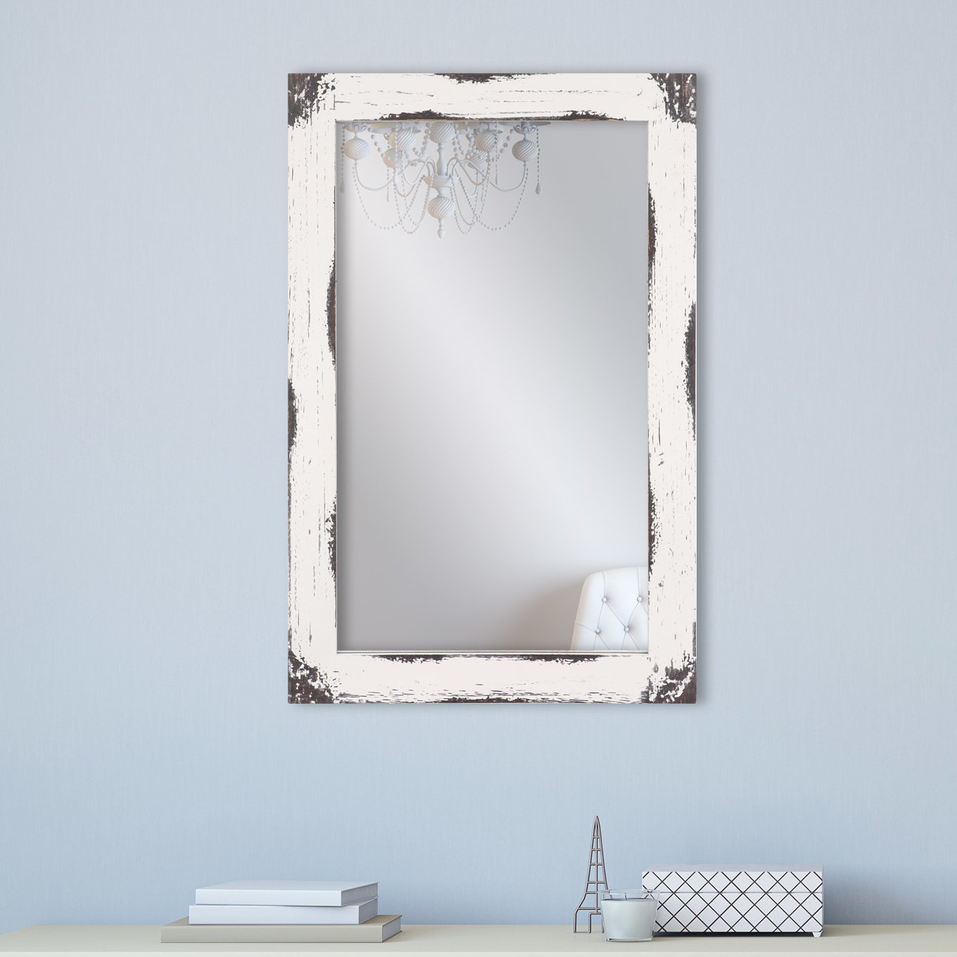 Tryphena Distressed Reclaimed Wall Mounted Mirror Within Stamey Wall Mirrors (Image 19 of 20)