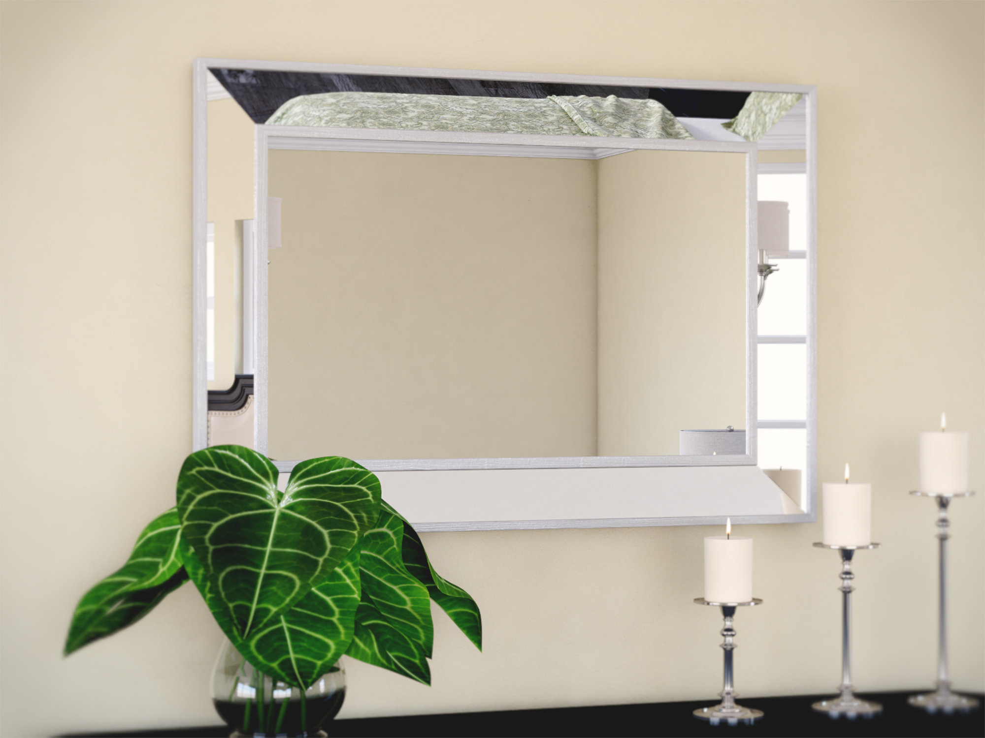 Tutuala Traditional Beveled Wall Mirror Inside Traditional Beveled Wall Mirrors (View 4 of 20)