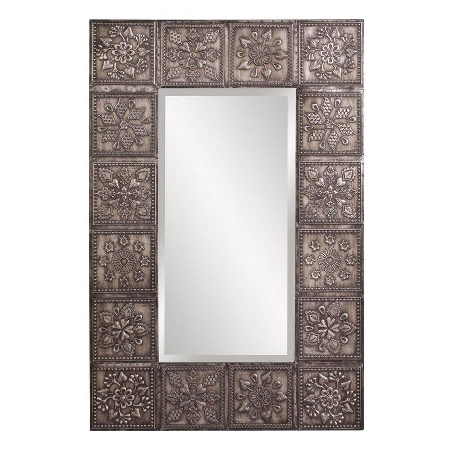 Tyler Dillon Templar Antique Pewter Beveled Rectangle Wall With Regard To Rectangle Pewter Beveled Wall Mirrors (Image 20 of 20)