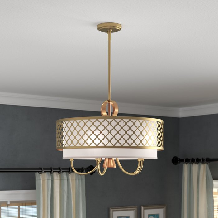 Tymvou 5 Light Drum Chandelier For Abel 5 Light Drum Chandeliers (Image 17 of 20)