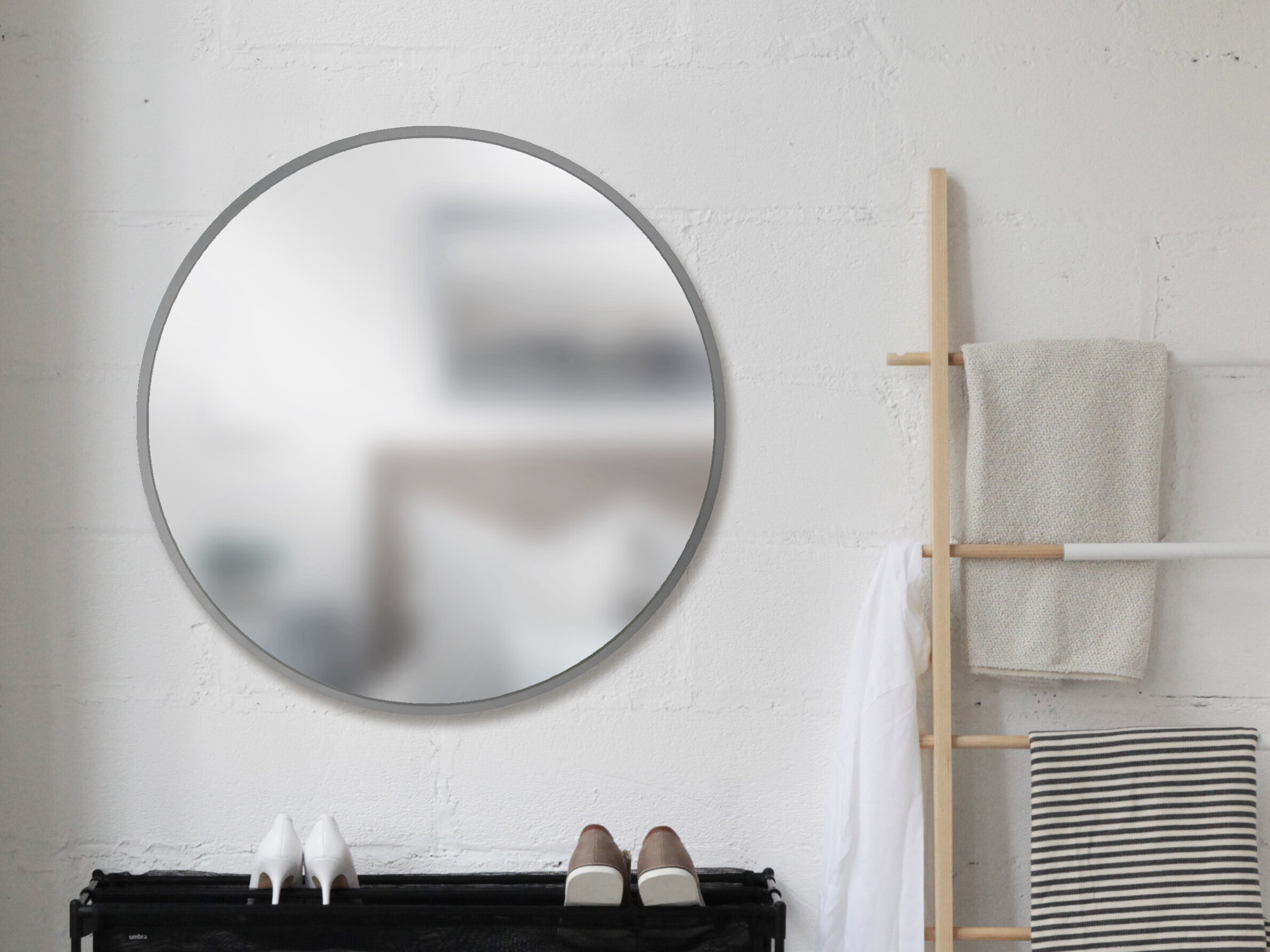 Umbra Hub Modern And Contemporary Accent Mirror In Loftis Modern & Contemporary Accent Wall Mirrors (View 17 of 20)