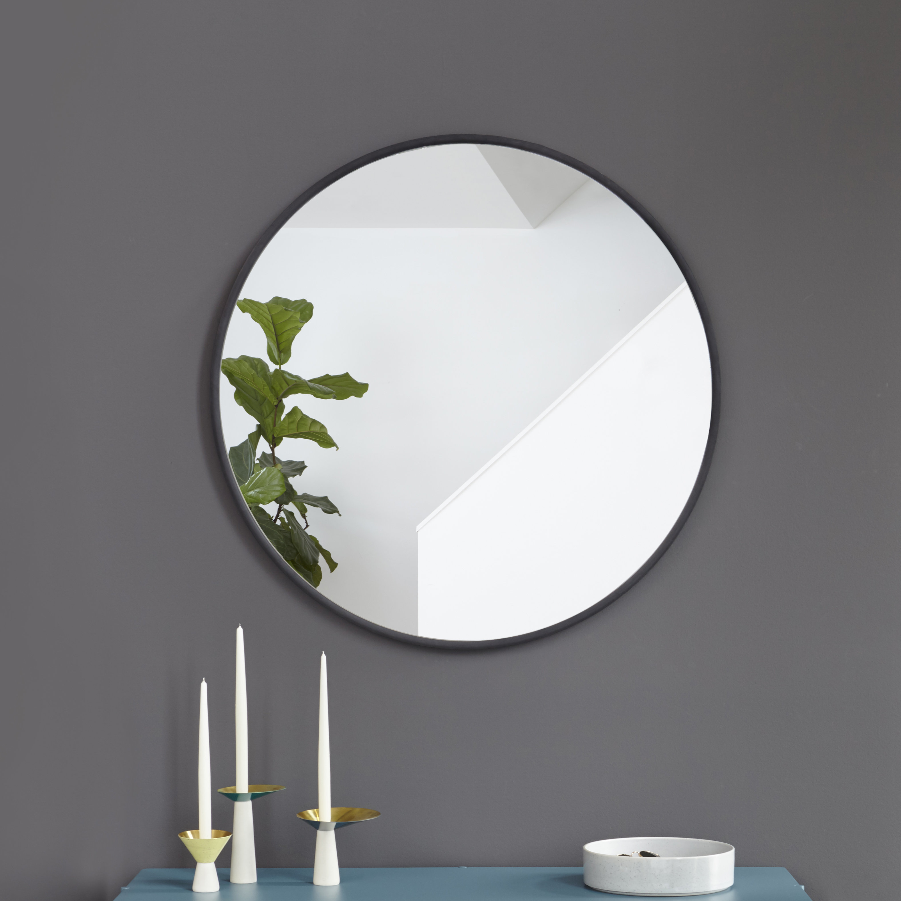 Umbra Hub Modern And Contemporary Accent Mirror Regarding Hub Modern And Contemporary Accent Mirrors (Photo 13 of 20)