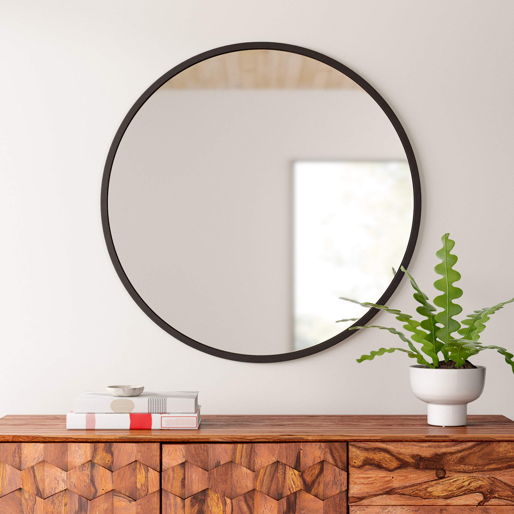 Umbra Hub Modern And Contemporary Accent Mirror With Levan Modern & Contemporary Accent Mirrors (Image 20 of 20)