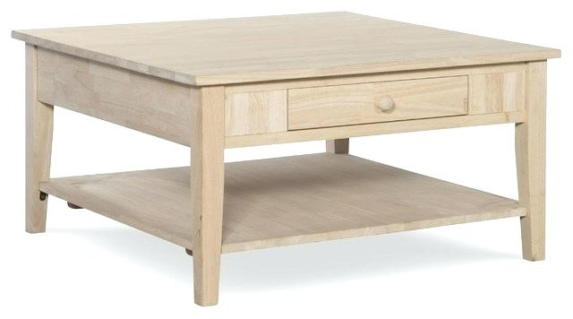 Unfinished Square Coffee Table – B Magazin Inside Unfinished Solid Parawood Hampton Coffee Tables (Image 21 of 25)