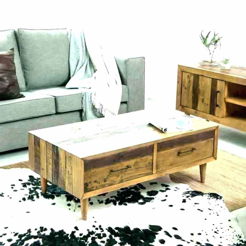 Unfinished Square Coffee Table – Inbei (Image 25 of 25)