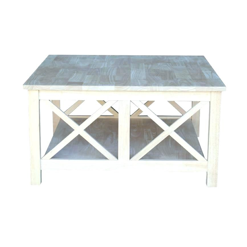 Unfinished Square Coffee Table – Mygele (View 21 of 25)