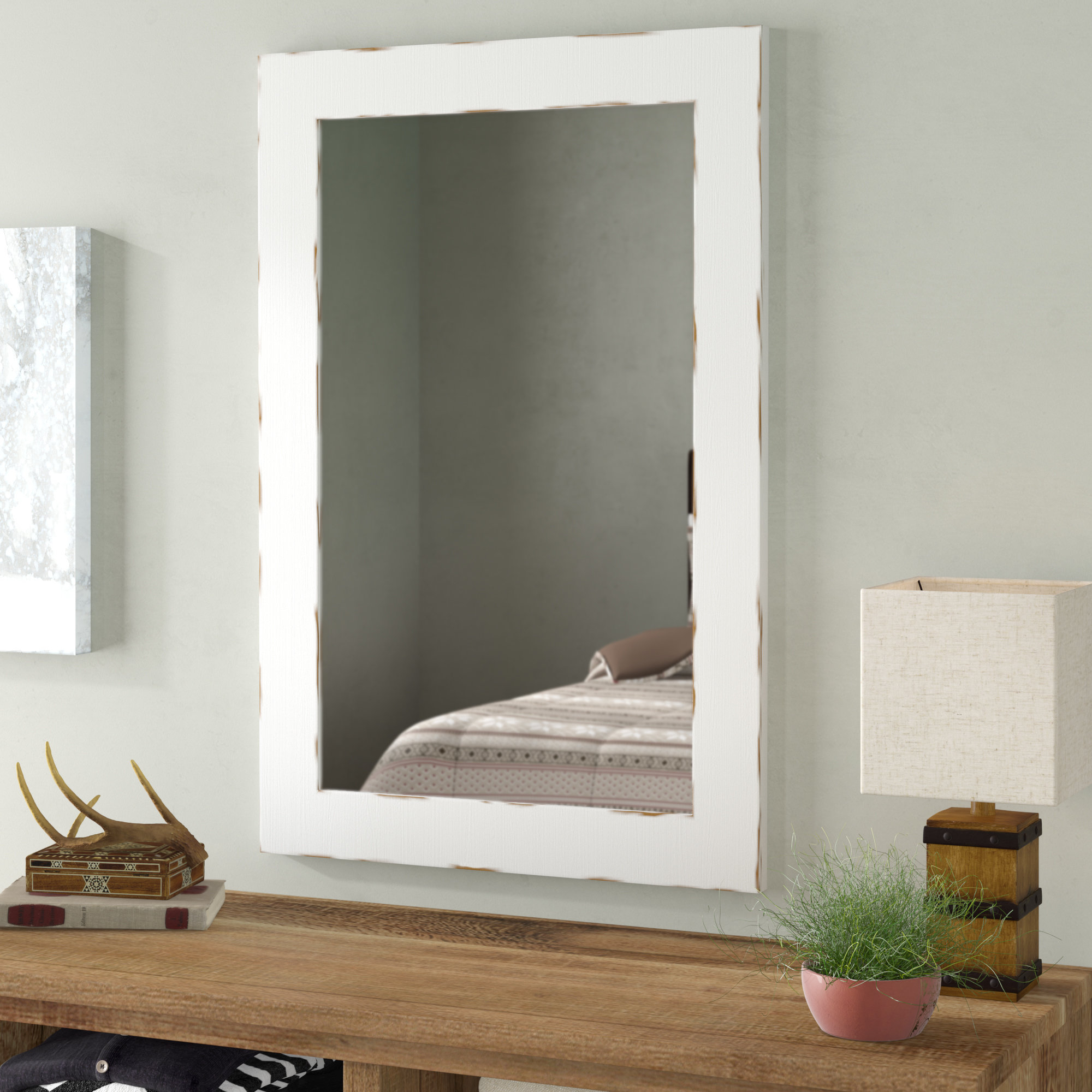 Union Rustic Longwood Rustic Beveled Accent Mirror & Reviews Within Wood Accent Mirrors (View 18 of 20)