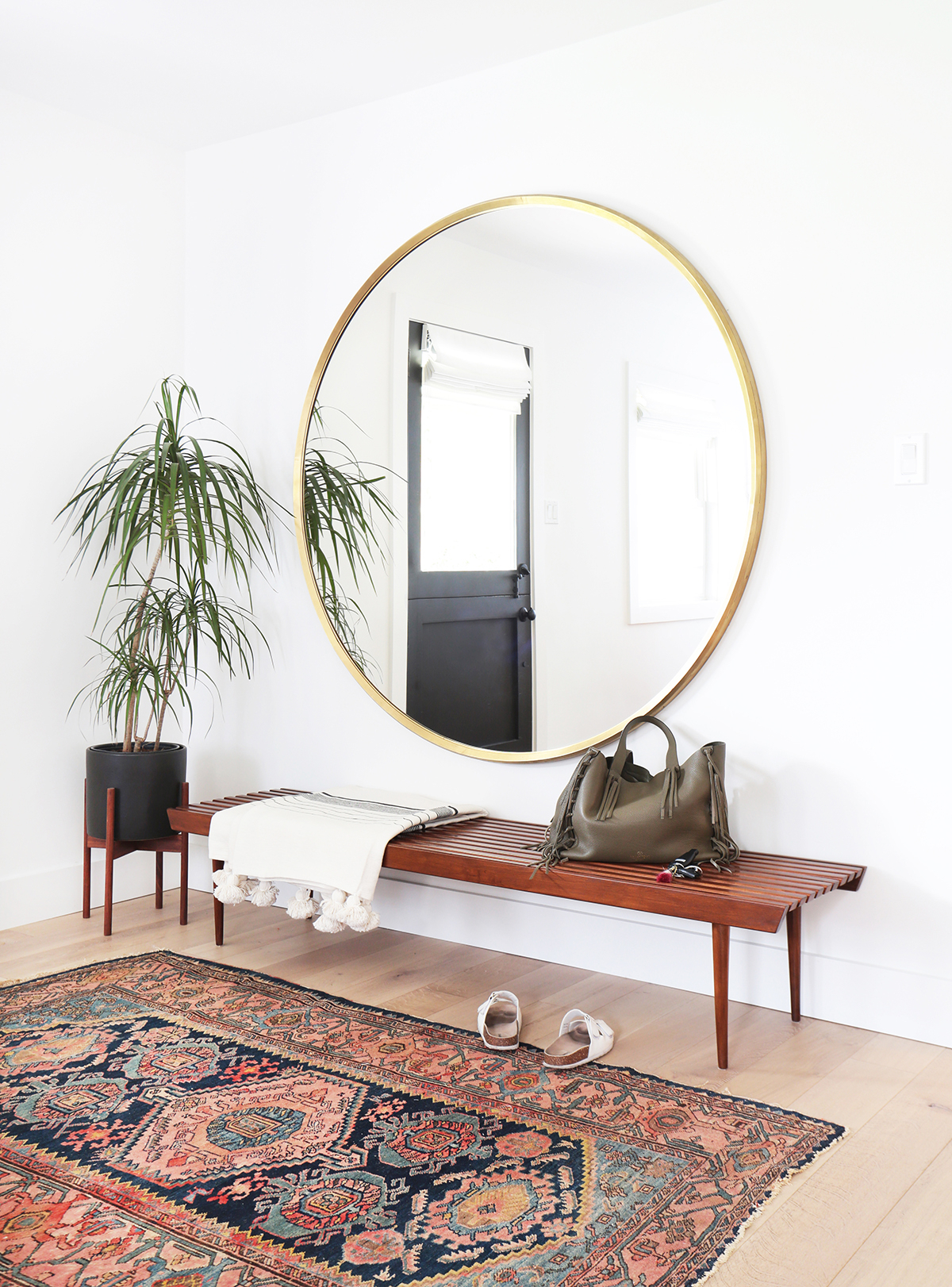 Use Round Mirrors To Complete Any Room In Your Home | Kathy Regarding Round Eclectic Accent Mirrors (Image 18 of 20)