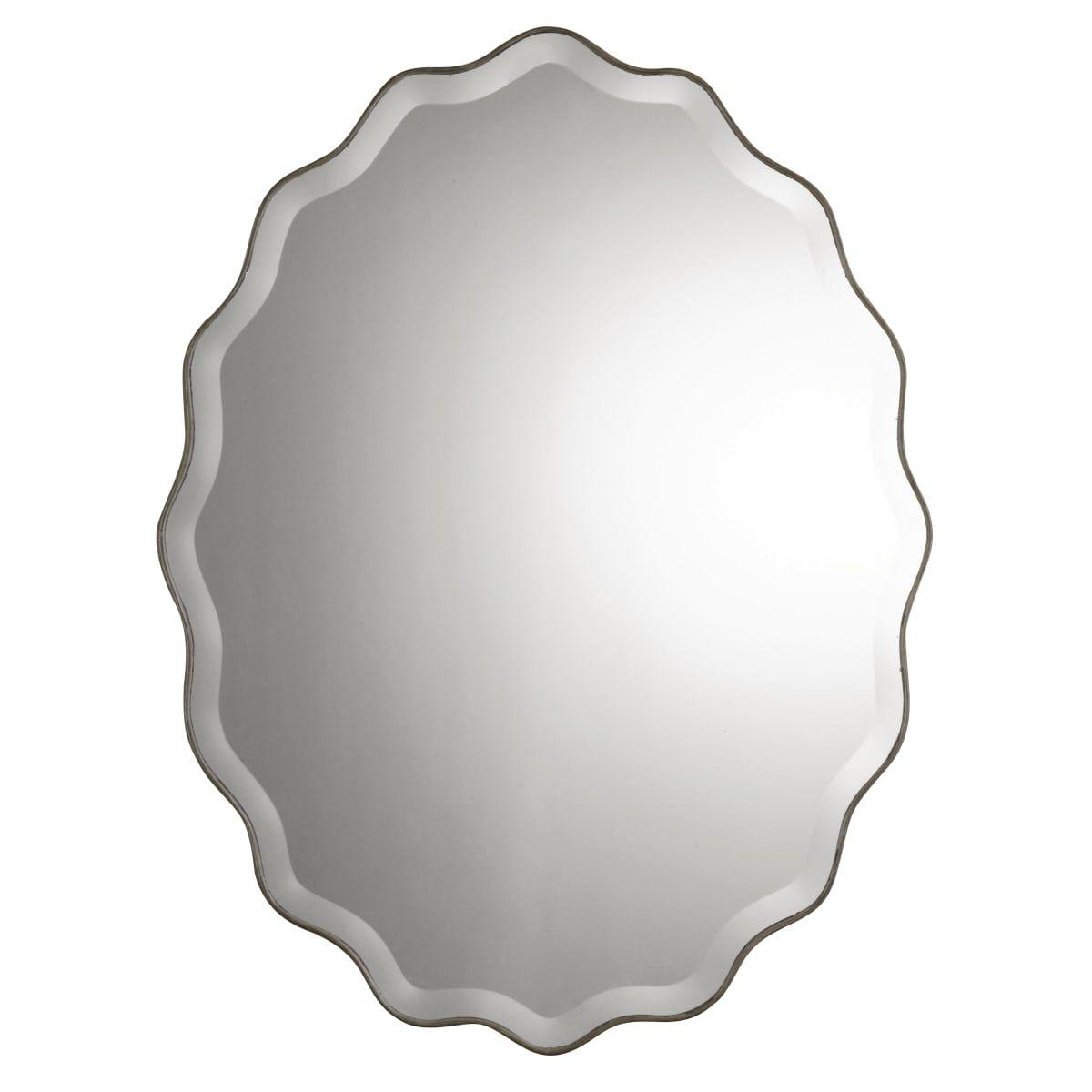 Uttermost 12704 B In 2019 | Bathroom | Oval Mirror, Mirror Regarding Estefania Frameless Wall Mirrors (View 13 of 20)