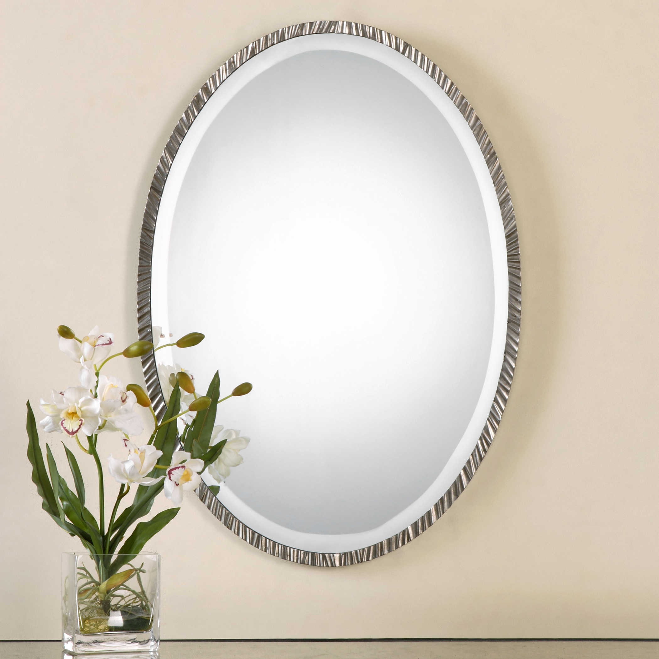 Uttermost Annadel Oval Wall Mirror Regarding Burnes Oval Traditional Wall Mirrors (Image 19 of 20)
