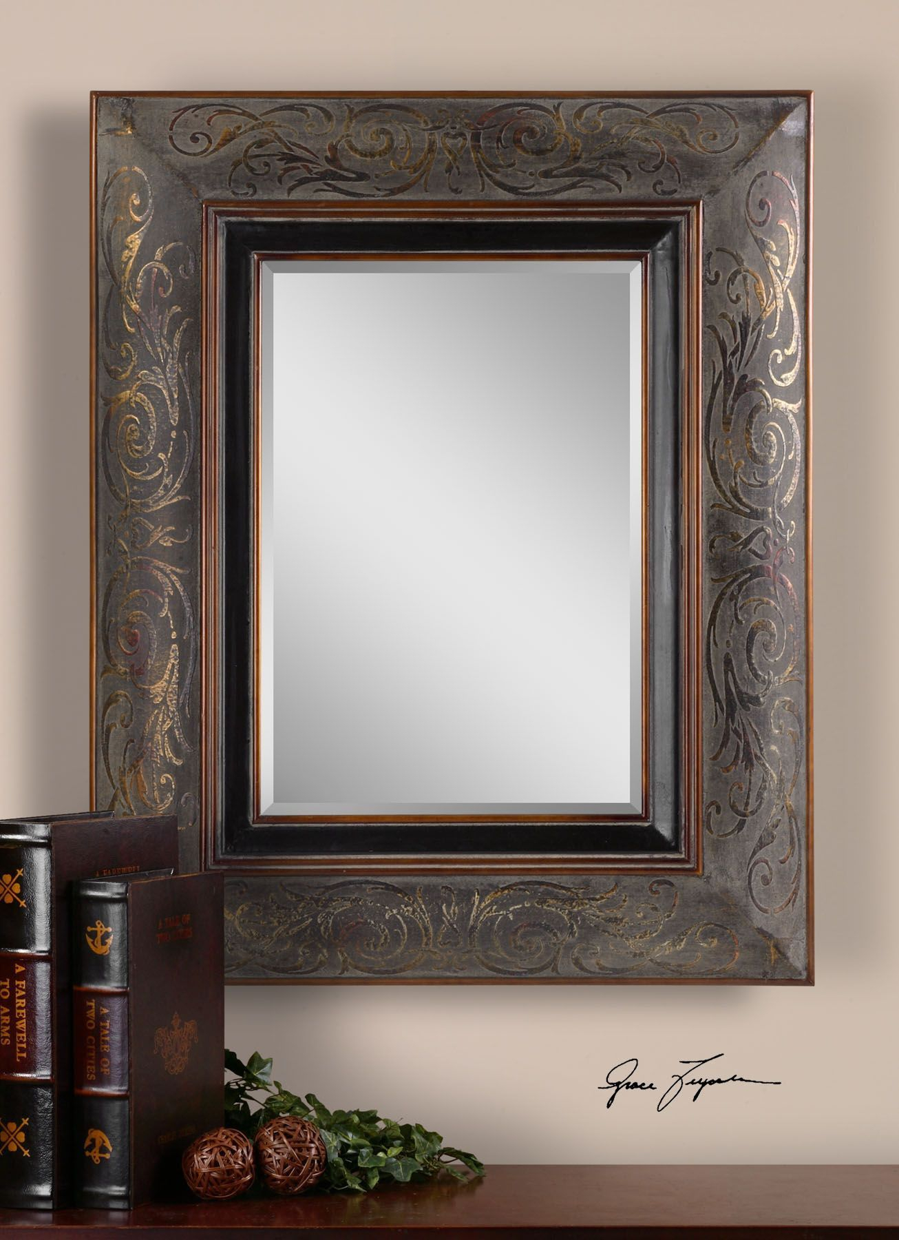Uttermost Bovara Rustic Bronze Mirror | Products | Bronze Throughout Maude Accent Mirrors (Image 18 of 20)