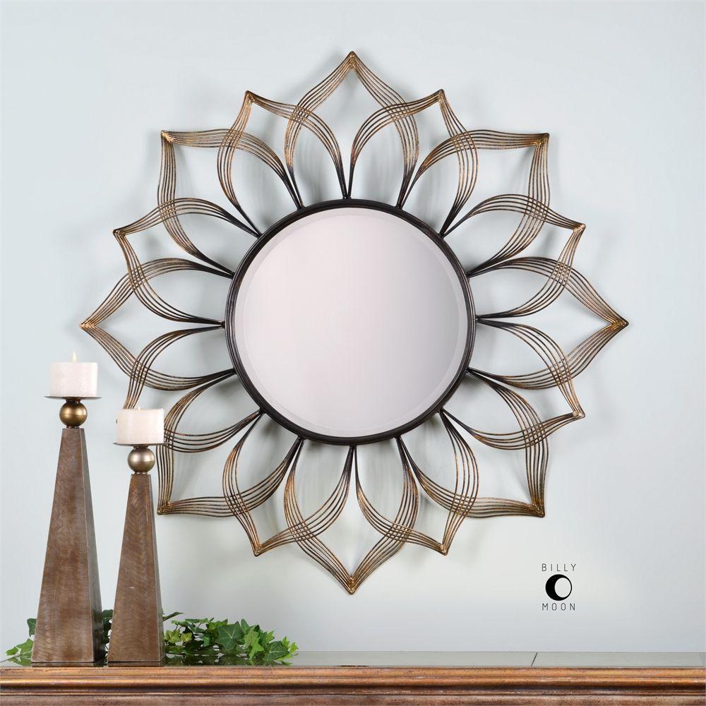 Uttermost Imani Iron Sunflower Mirror | Home | Mirror For Brylee Traditional Sunburst Mirrors (View 7 of 20)