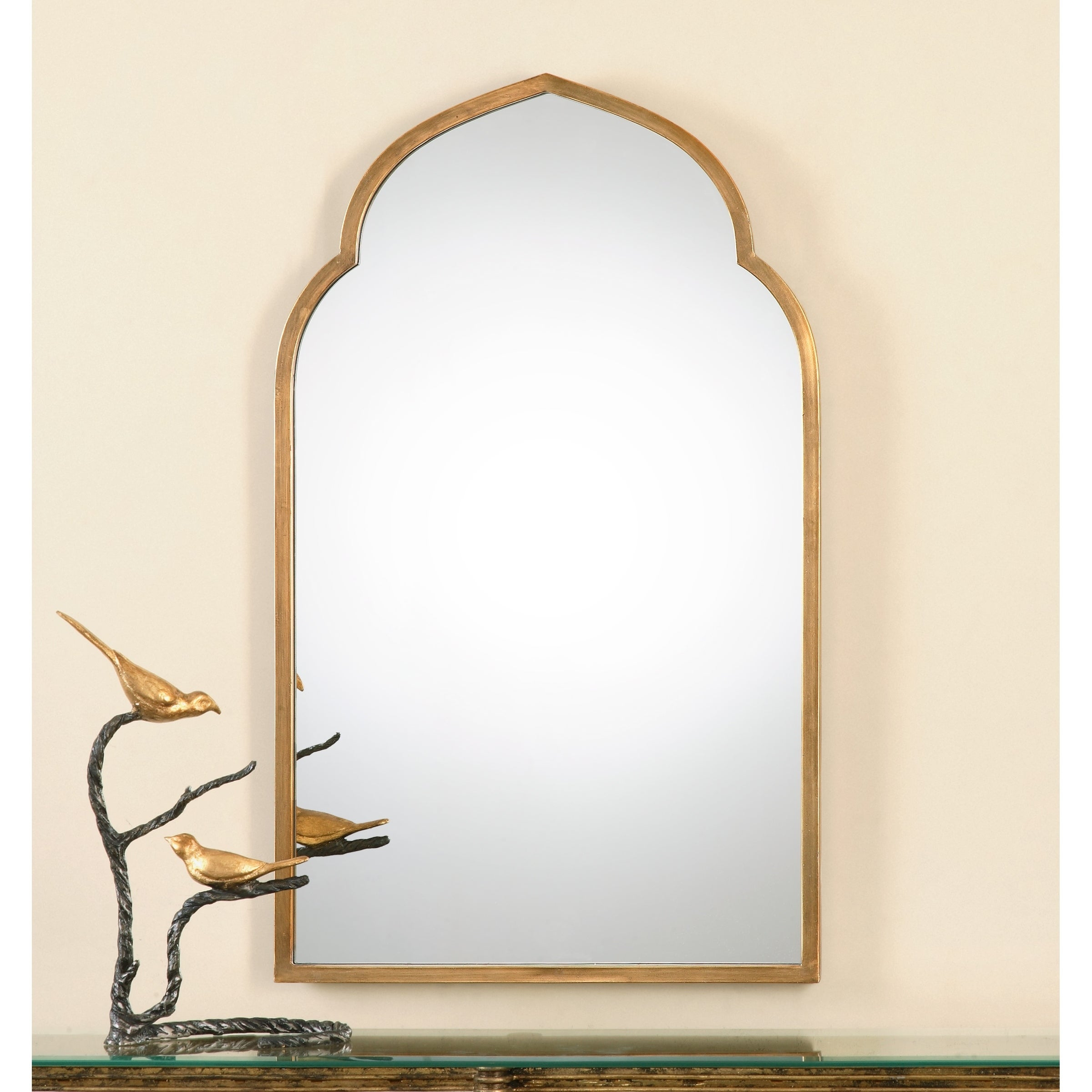 Uttermost Kenitra Gold Arch Decorative Wall Mirror – Antique Silver –  24X40X (Image 18 of 20)