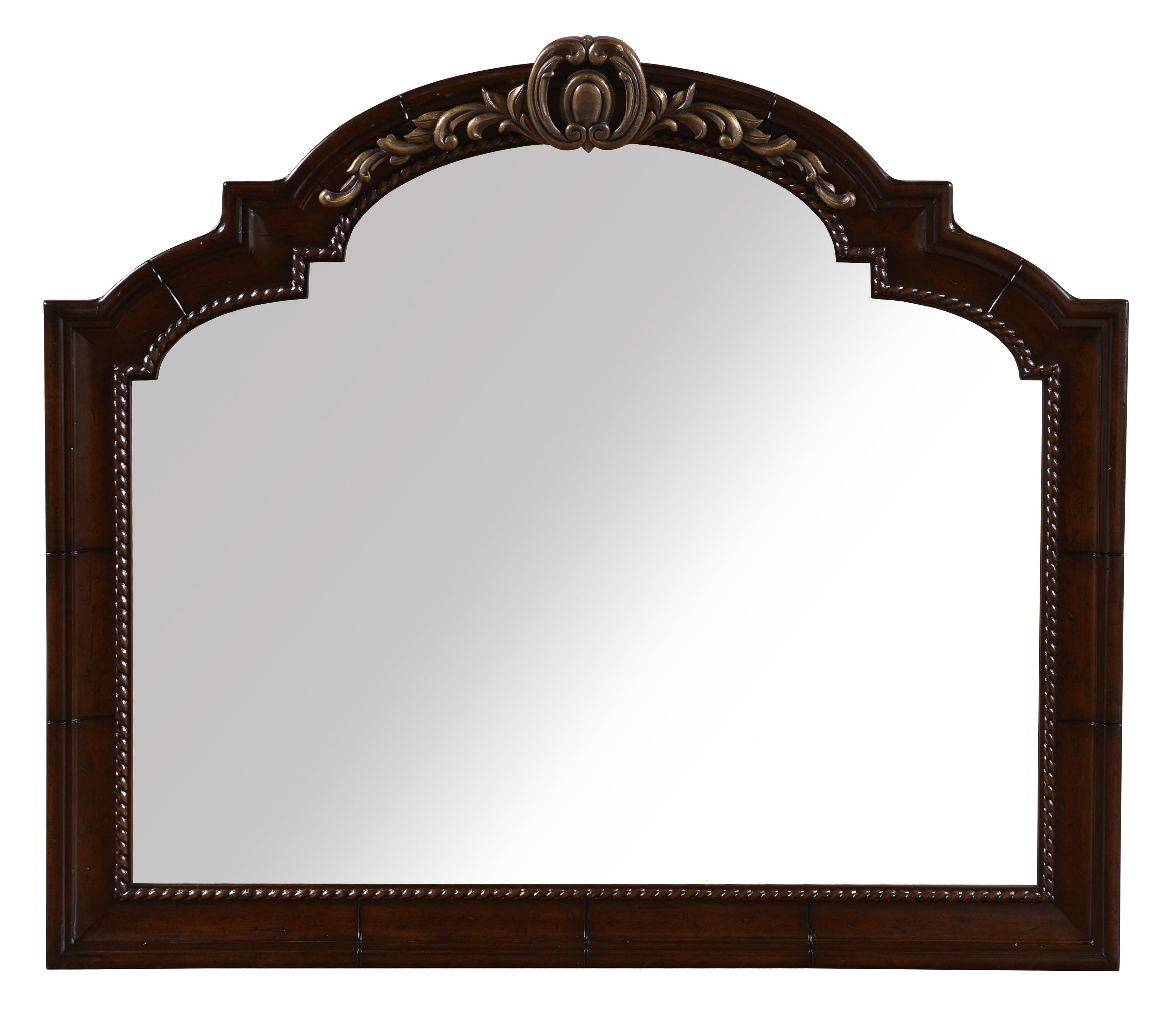 Valencia Traditional Landscape Wall Mirror W/ Metal Detaila.r.t (Image 15 of 20)