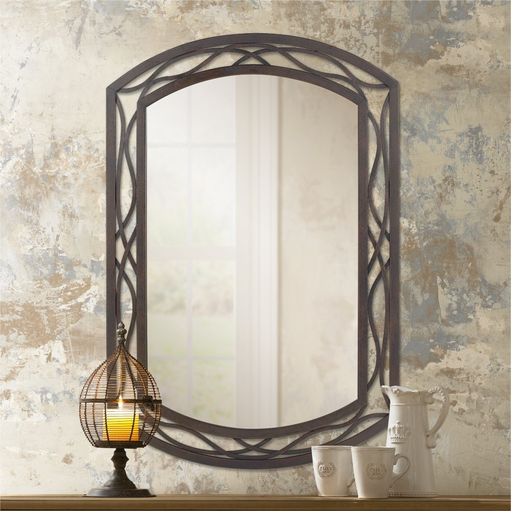 Valuable Design Metal Wall Mirror Plus Rectangle Decorative Inside Traditional Metal Wall Mirrors (Image 16 of 20)