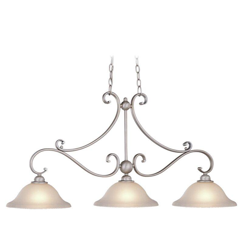 Van Horne 3 Light Kitchen Island Linear Pendant Throughout Van Horne 3 Light Single Teardrop Pendants (View 9 of 25)