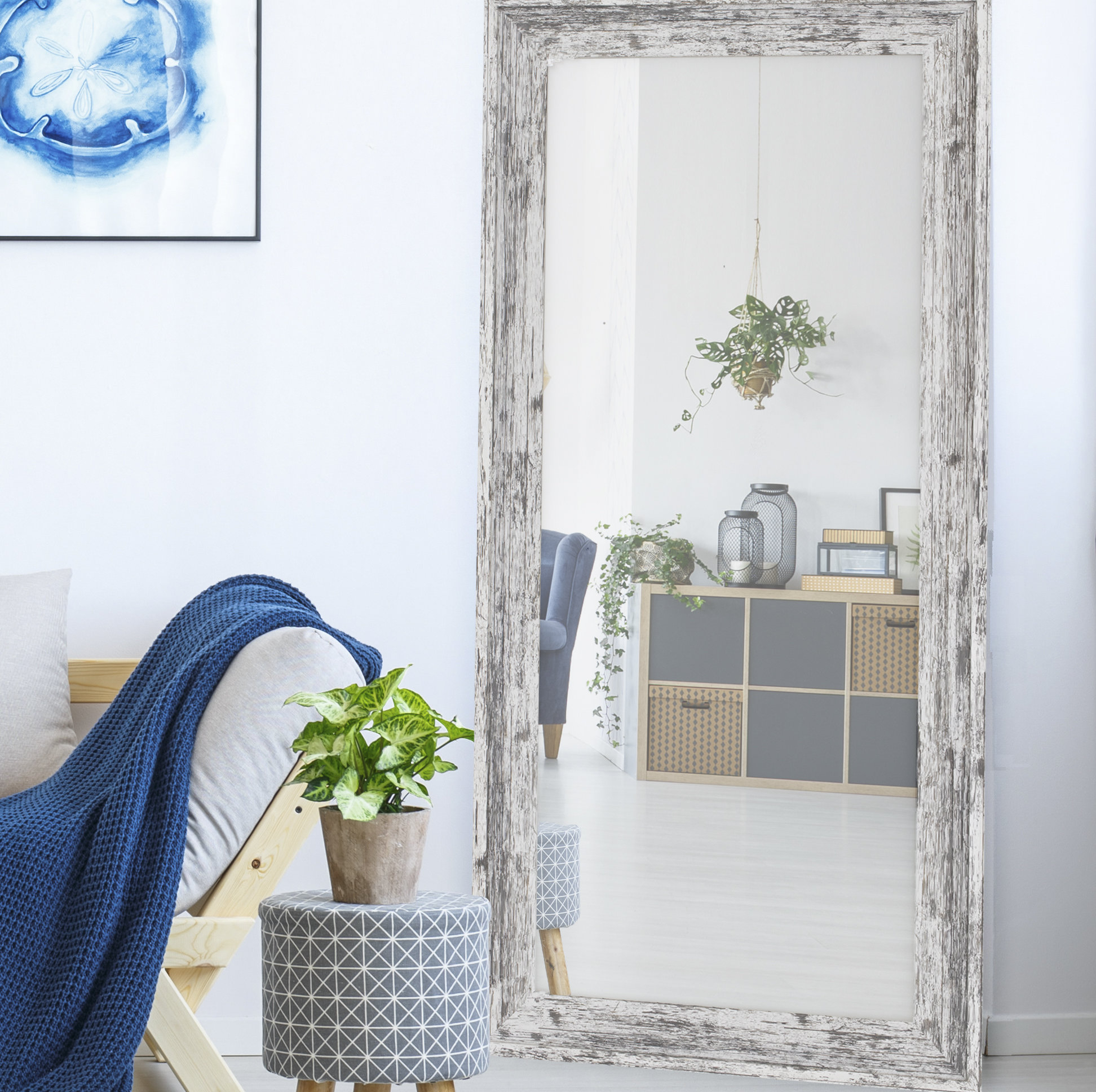 Vannesa Full Length Mirror Intended For Handcrafted Farmhouse Full Length Mirrors (Image 19 of 20)