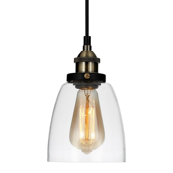 Vanslyke 1 Light Bell Pendant In 2019 | Home | Pendant Lamp Throughout Yarger 1 Light Single Bell Pendants (View 15 of 25)