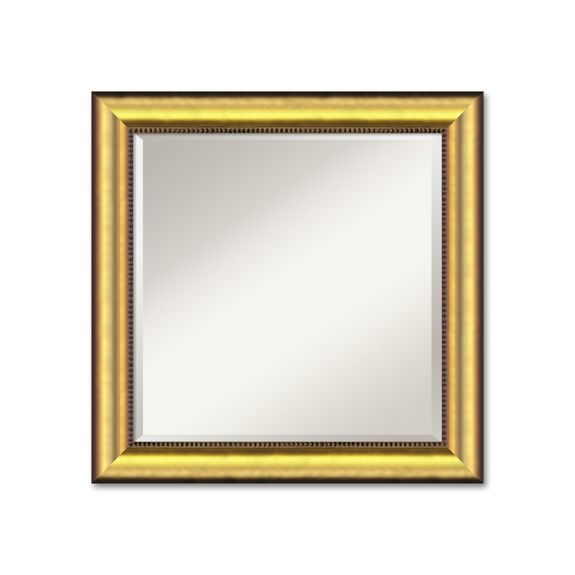 Vegas Medium Burnished Gold Tone Traditional Wood Wall Intended For Traditional Square Glass Wall Mirrors (Image 18 of 20)