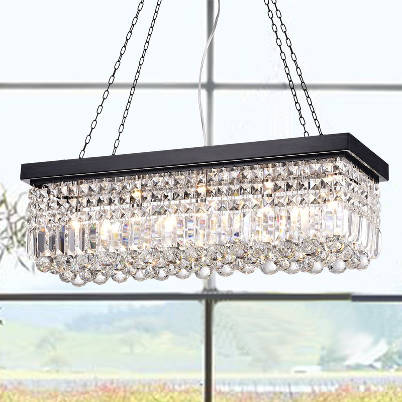 Featured Image of Verdell 5 Light Crystal Chandeliers