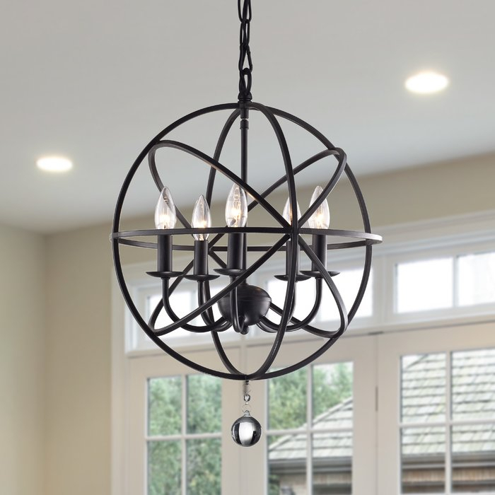 Verlene Foyer 5 Light Globe Chandelier In Verlene Foyer 5 Light Globe Chandeliers (Photo 2 of 20)