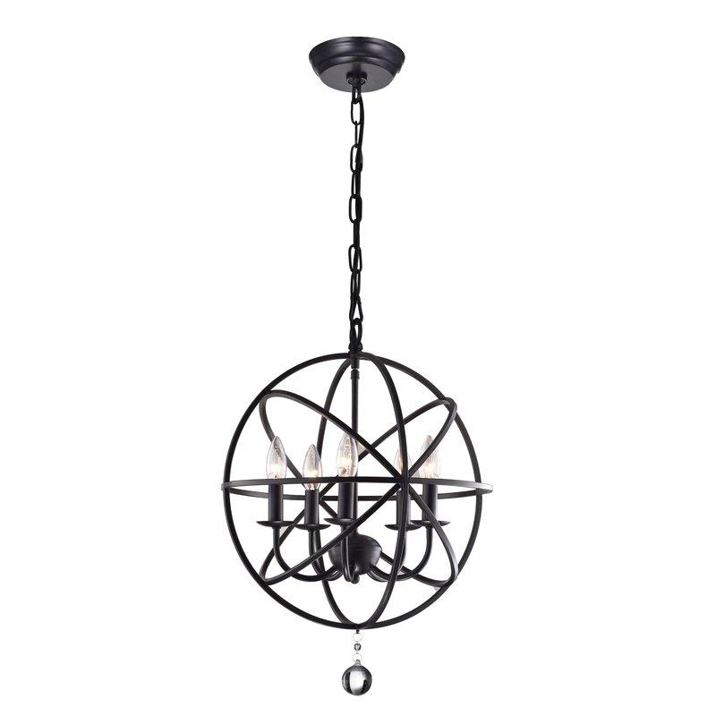 Featured Image of Verlene Foyer 5 Light Globe Chandeliers