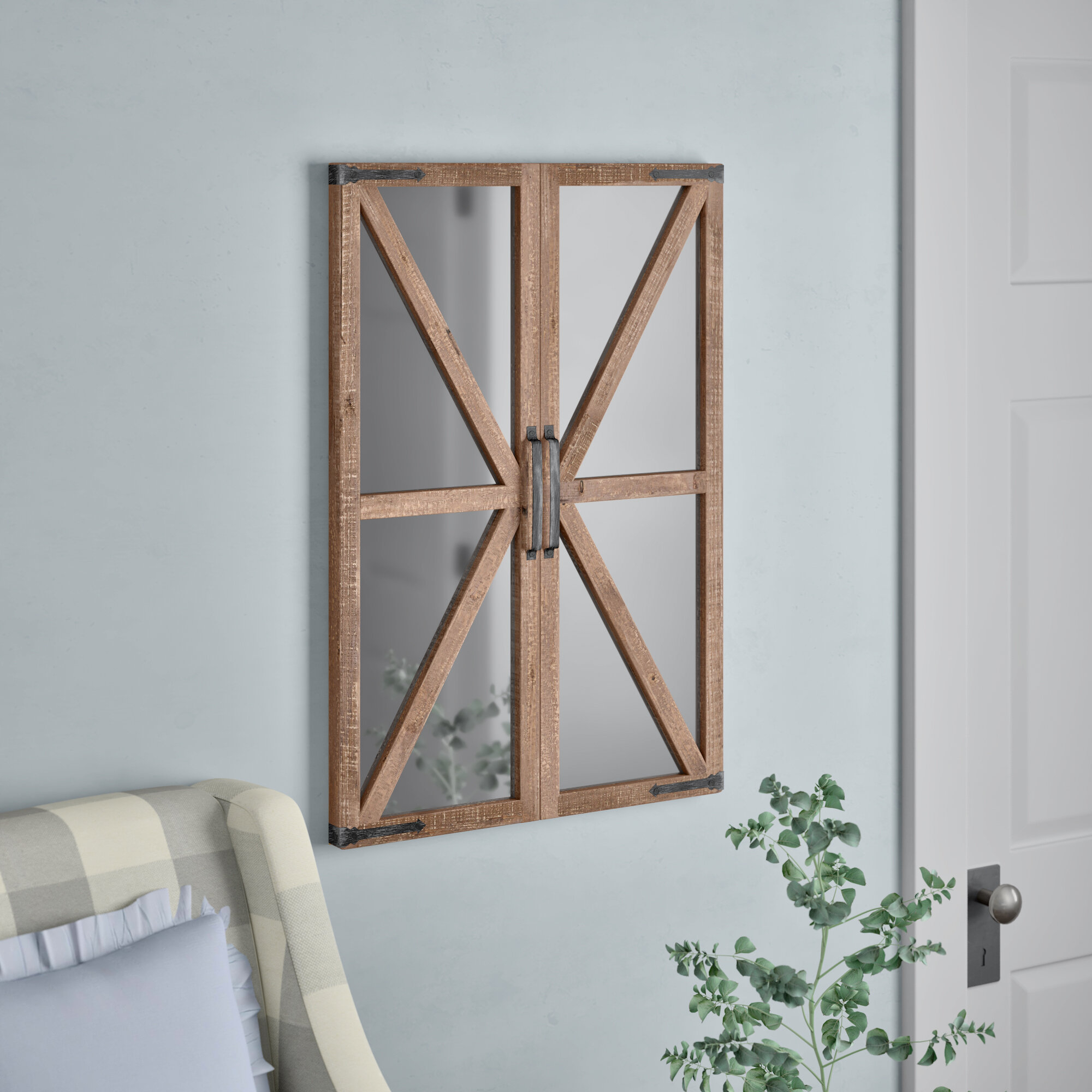 Verner Farmhouse Wall Mirror Intended For Kist Farmhouse Wall Mirrors (View 20 of 20)