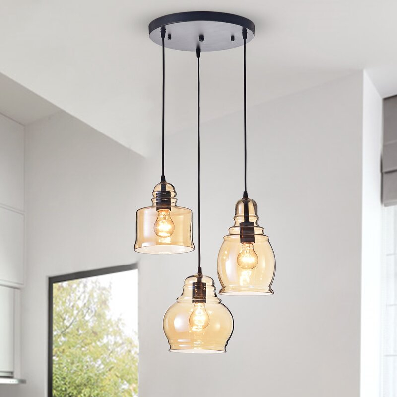 Featured Image of Vernice 3 Light Cluster Bell Pendants