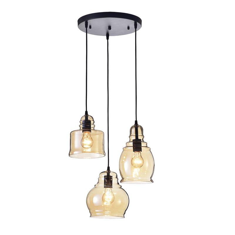 Vernice 3 Light Cluster Bell Pendant Intended For Vernice 3 Light Cluster Bell Pendants (Photo 5 of 25)