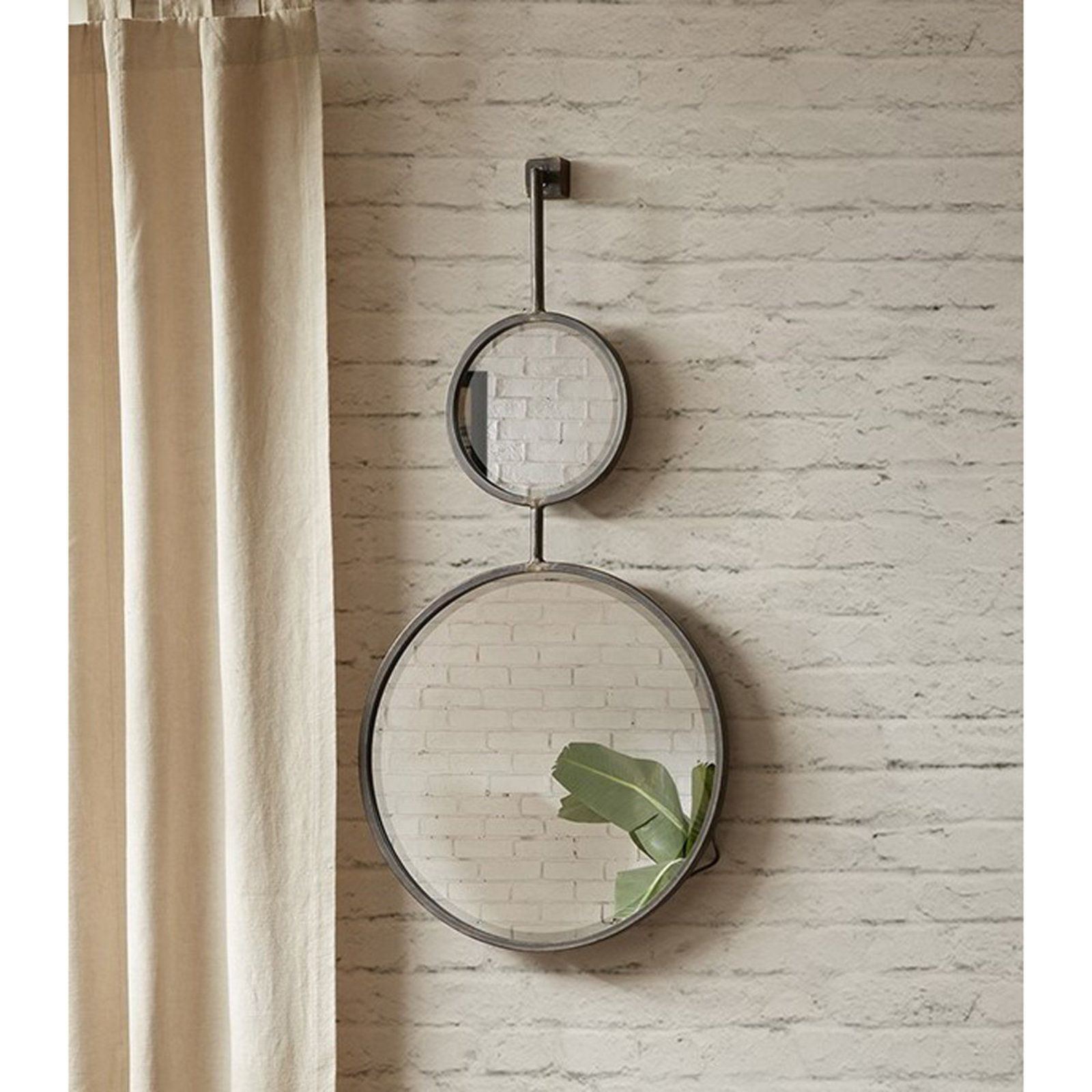 Vertical Modern Double Round Mirror | Accessories | Round With Vertical Round Wall Mirrors (Image 17 of 20)