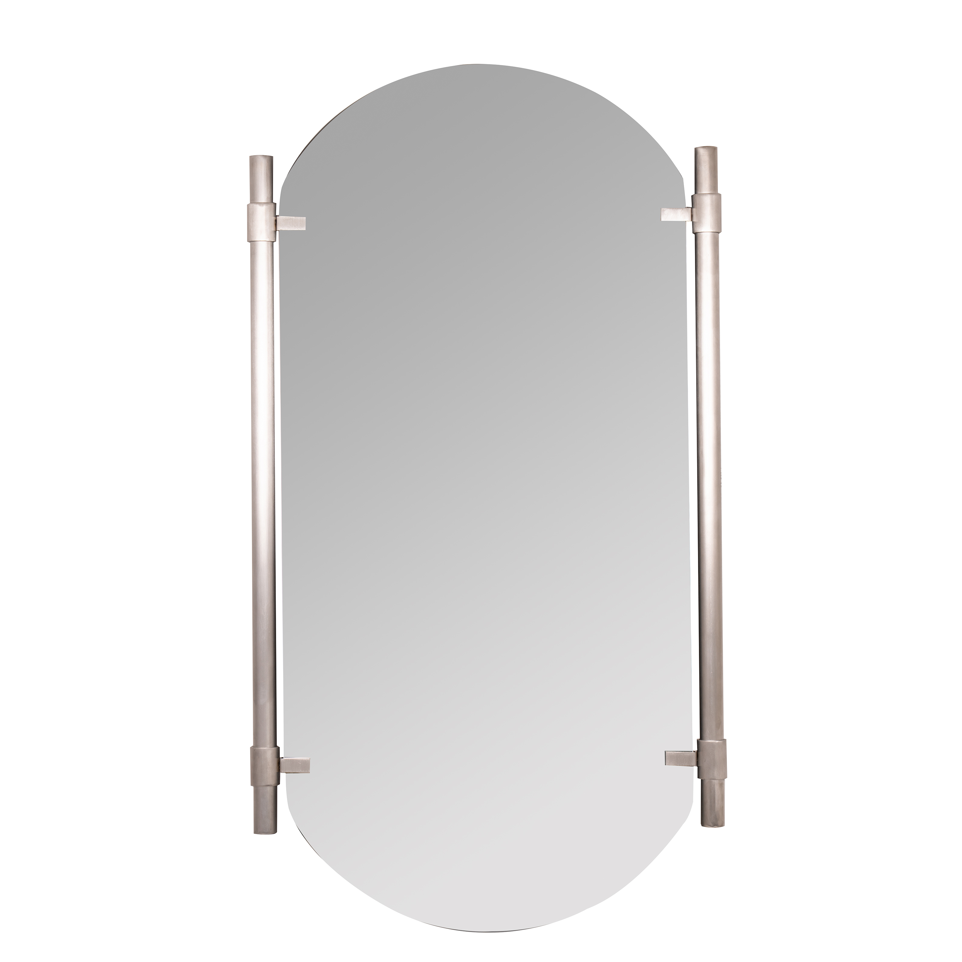 Vertical Silver Phoebe Wall Mirror For Arch Vertical Wall Mirrors (Image 19 of 20)