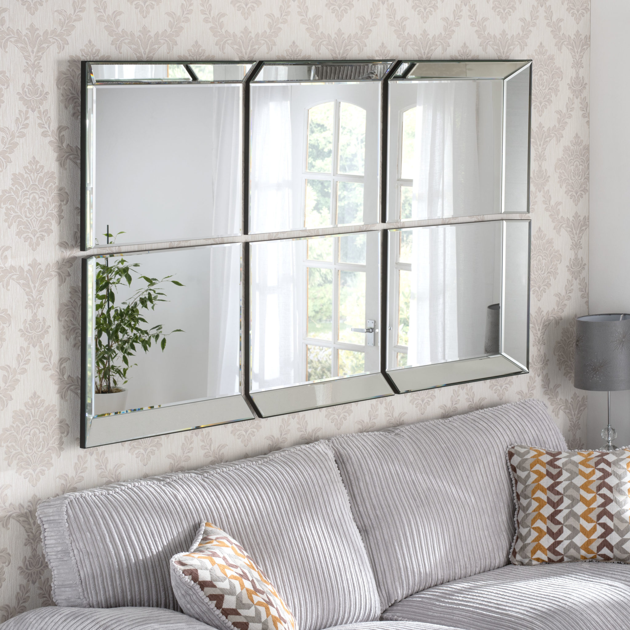 Victoria Window Styled Handmade Bevelled Over Mantle Wall Mirrors With Wall Mirrors (Image 20 of 20)