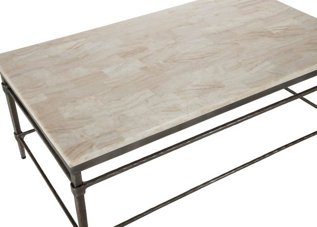 Vida Stone Top Coffee Table In 2019 | Passan | Stone Coffee With Simple Living Ethan Cocktail Tables (View 24 of 25)