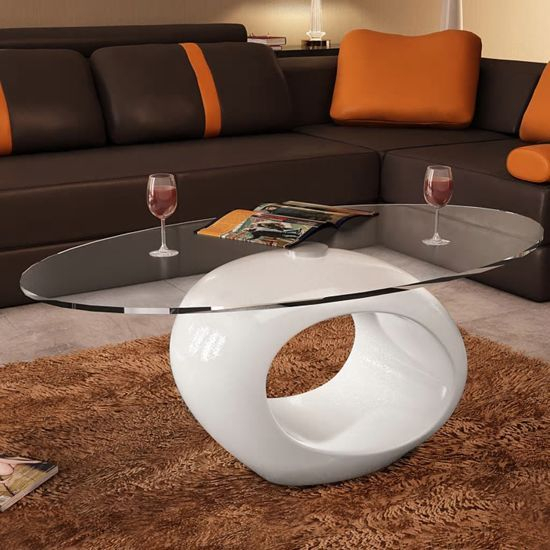 Vidaxl – Ronde – Salontafel – Wit | Home Inspiration | White Pertaining To Strick & Bolton Totte O Shaped Coffee Tables (View 3 of 25)