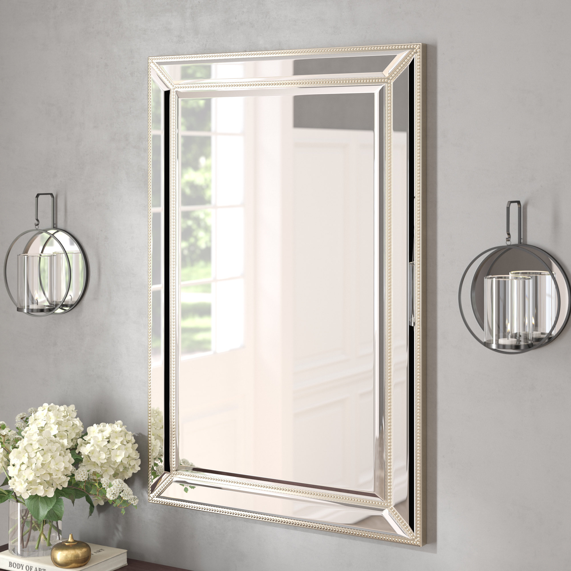 Villa Traditional Beveled Accent Mirror Regarding Willacoochee Traditional Beveled Accent Mirrors (Image 17 of 20)