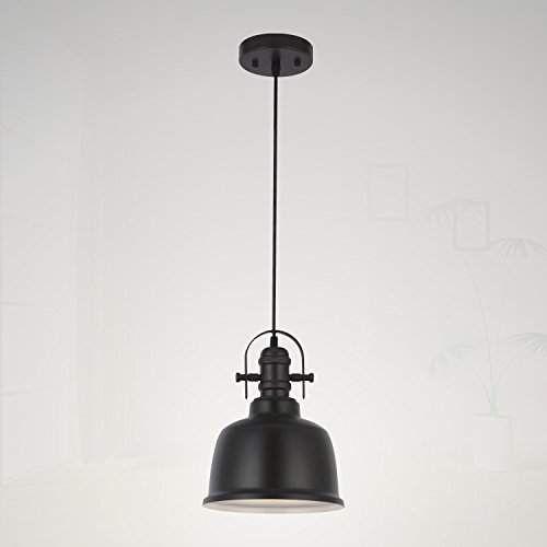 Vinluz Vintage Pendant Lamp 1 Light Industrial Hanging Lamp Intended For Moyer 1 Light Single Cylinder Pendants (Photo 22 of 25)