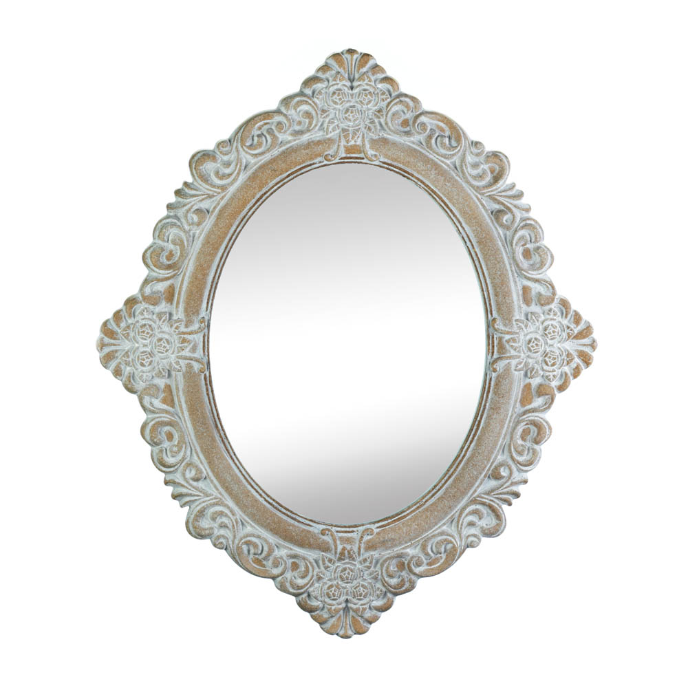 Vintage Amelia Taupe Mirror (Accent Plus) For Oval Wood Wall Mirrors (Photo 7 of 20)