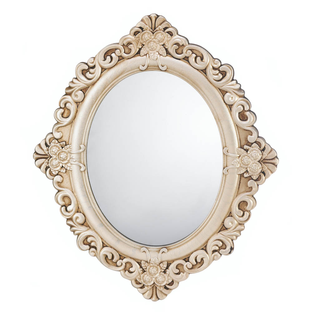 Vintage Estate Oval Wood Wall Mirror For Oval Wood Wall Mirrors (Photo 1 of 20)